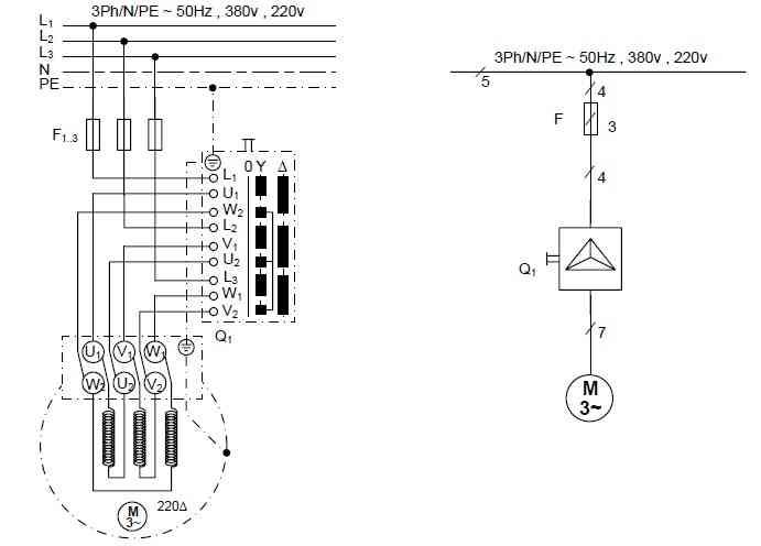 راه اندازی موتور سه فاز با استفاده از کلید غلطکی ستاره و مثلث